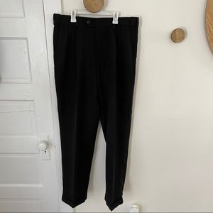 Savane Microfiber No Iron Black Dress Pants 34x32